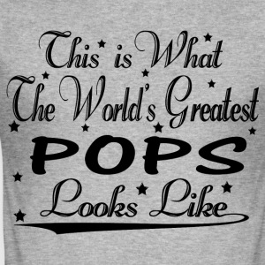 World's Greatest Pops... Hoodies & Sweatshirts - Men's Slim Fit T-Shirt