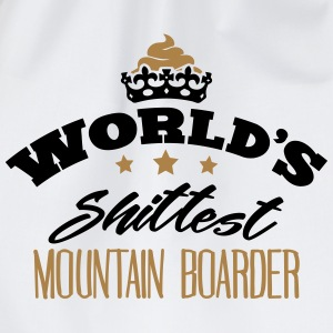 worlds shittest mountain boarder - Drawstring Bag
