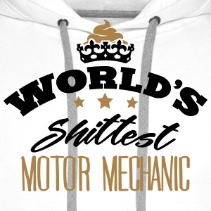 worlds shittest motor mechanic - Men's Premium Hoodie