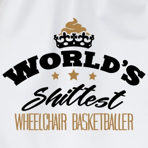 worlds shittest wheelchair basketballer - Drawstring Bag