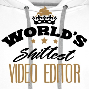 worlds shittest video editor - Men's Premium Hoodie