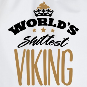 worlds shittest viking - Drawstring Bag