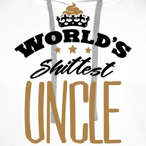 worlds shittest uncle - Men's Premium Hoodie