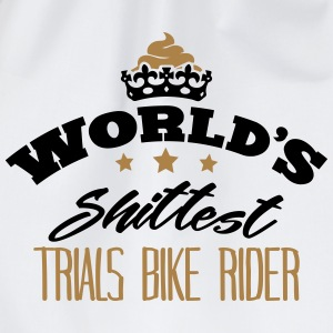 worlds shittest trials bike rider - Drawstring Bag