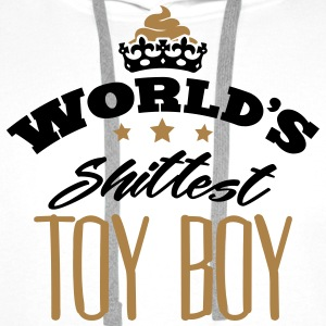 worlds shittest toy boy - Men's Premium Hoodie