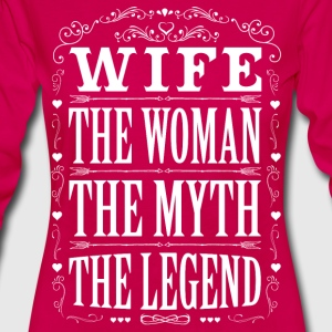 Wife The Legend... T-Shirts - Women's Premium Longsleeve Shirt