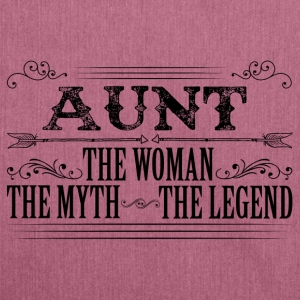 Aunt The Legend... T-Shirts - Shoulder Bag made from recycled material