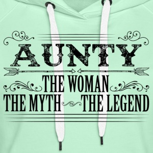 Aunty The Legend... T-Shirts - Women's Premium Hoodie