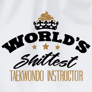 worlds shittest taekwondo instructor - Drawstring Bag
