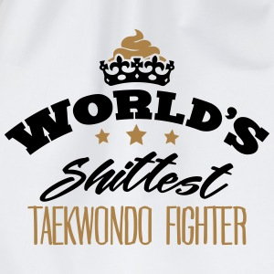 worlds shittest taekwondo fighter - Drawstring Bag