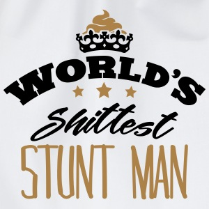 worlds shittest stunt man - Drawstring Bag