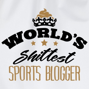 worlds shittest sports blogger - Drawstring Bag
