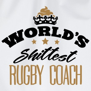 worlds shittest rugby coach - Drawstring Bag