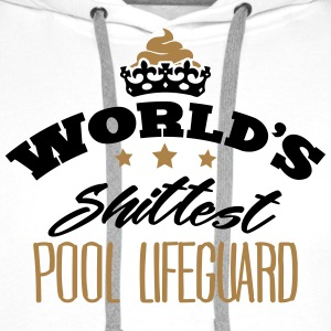 worlds shittest pool lifeguard - Men's Premium Hoodie