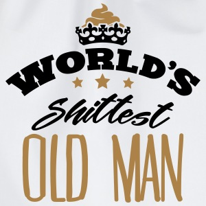 worlds shittest old man - Drawstring Bag