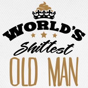 worlds shittest old man - Baseball Cap