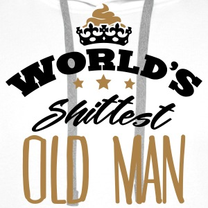worlds shittest old man - Men's Premium Hoodie