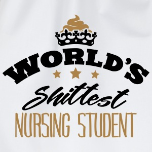 worlds shittest nursing student - Drawstring Bag