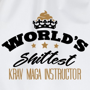 worlds shittest krav maga instructor - Drawstring Bag