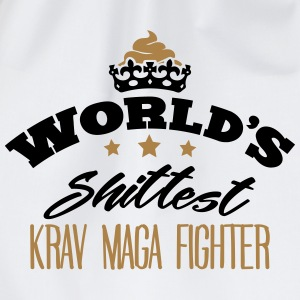 worlds shittest krav maga fighter - Drawstring Bag