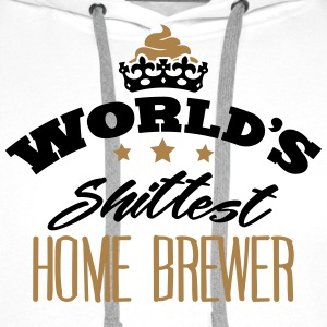 worlds shittest home brewer - Men's Premium Hoodie