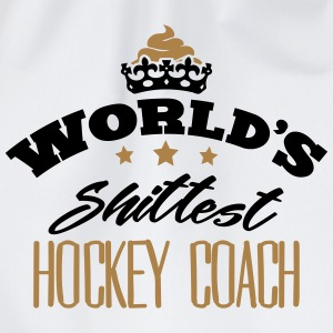 worlds shittest hockey coach - Drawstring Bag