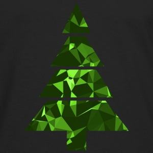 Christmas Tree (Low Poly) T-skjorter - Premium langermet T-skjorte for menn