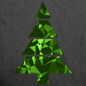 Christmas Tree (Low Poly) T-Shirts - Shoulder Bag made from recycled material