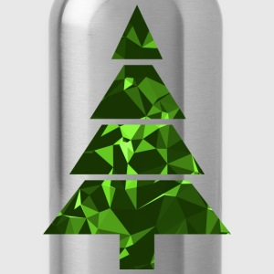 Christmas Tree (Low Poly) T-Shirts - Water Bottle