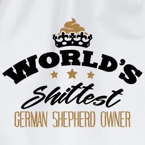 worlds shittest german shepherd owner - Drawstring Bag