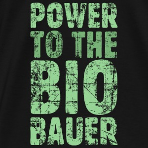 Power to the Biobauer (Vintage/Hellgrün) Kontrast - Männer Premium T-Shirt