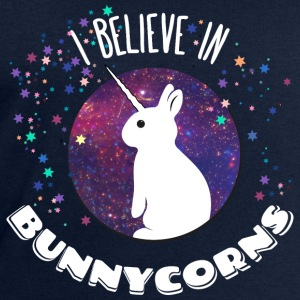I believe in bunnycorns licorne lièvre lapin unico Tee shirts - Sweat-shirt Homme Stanley & Stella