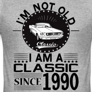 Classic since 1990 Hoodies & Sweatshirts - Men's Slim Fit T-Shirt