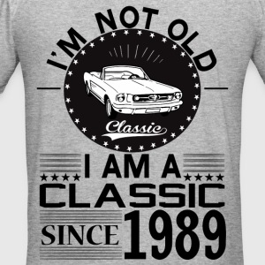 Classic since 1989 Hoodies & Sweatshirts - Men's Slim Fit T-Shirt
