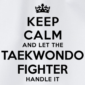 keep calm let taekwondo fighter handle i - Sac de sport léger