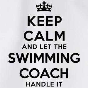 keep calm let swimming coach handle it - Drawstring Bag