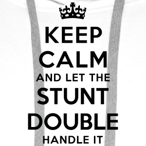 keep calm let stunt double handle it - Men's Premium Hoodie