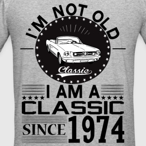 Classic since 1974 Hoodies & Sweatshirts - Men's Slim Fit T-Shirt