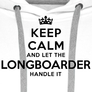 keep calm let longboarder handle it - Men's Premium Hoodie