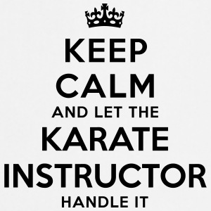 keep calm let karate instructor handle i - Tablier de cuisine