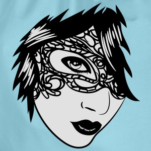 Gothic girl face jewelry T-Shirts - Drawstring Bag