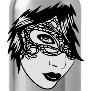 Gothic girl face jewelry T-Shirts - Water Bottle