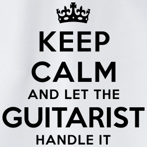 keep calm let guitarist handle it - Drawstring Bag