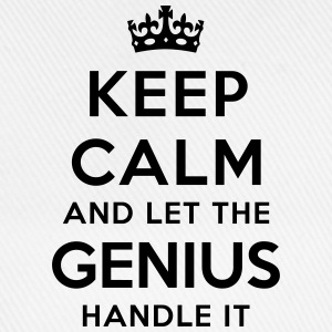 keep calm let genius handle it - Baseball Cap