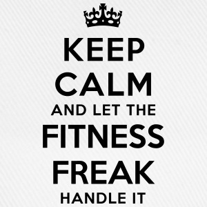 keep calm let fitness freak handle it - Baseball Cap