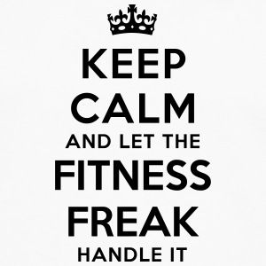 keep calm let fitness freak handle it - T-shirt manches longues Premium Homme