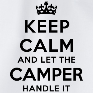 keep calm let the camper handle it - Sac de sport léger