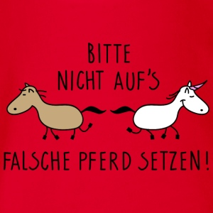 falsches Pferd ? T-Shirts - Baby Bio-Kurzarm-Body