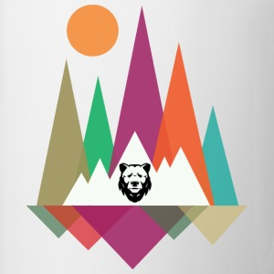 Hipster Mountains & Bear Tee shirts - Tasse