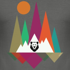 Hipster Mountains & Bear Bags & Backpacks - Men's Slim Fit T-Shirt